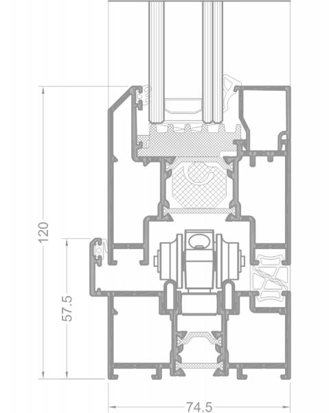 ALIPLAST PANORAMA alumínium harmonikaajtó