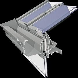 ALIPLAST ALIVER 2000+ alumínium télikert tetőrendszer