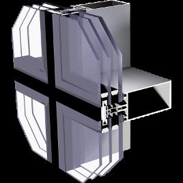 ALIPLAST MC Glass alumínium függönyfal